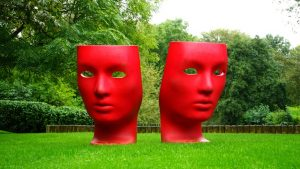 Two red faces
